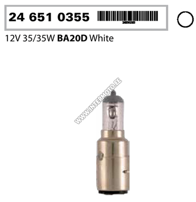 12V 35/35W BA20D HALOGEEN PIRN (24 651 0355)