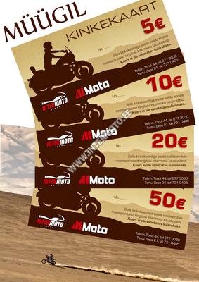 MÜÜGIL KINKEKAARDID: 5€, 10€, 20€ ja 50€